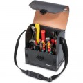 Top-Line leather tool case with middle wall, small