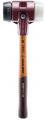 'Simplex 3027' Soft-Face MALLET - Rubber/Superplastic with Wooden Handle & Cast Iron Housing (80mm Dia. Face)