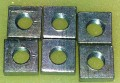 Square Nut 6mm pac of 6