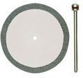 Cutting disc, diamond coated, 38x0.6mm, with arbor #28842