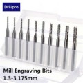 10pcs 1.3mm-3.175mm Carbide End Mill DIAMOND CUT CARBIDE ROUTER BURRS