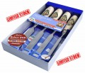 KIRSCHEN 4 pce FIRMER CHISEL SET (1001) with BONUS SHARPENING DVD