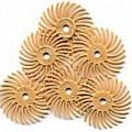 "Radial Bristle Discs, 6 Micron, 3,000 Grit, Peach, 3/4"", 6-Pk"