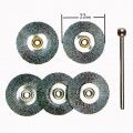 Steel wheel  22mm  5 pcs with arbor #28952