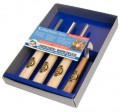 KIRSCHEN 4 pce WOOD CARVING SET - in Display Box (3424-SB 4 pce)