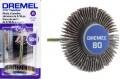 Dremel 504 - 1 1/8 x 3/16 inch 80 grit Flap Wheel