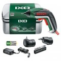 Bosch IXO 4 Cordless Lithium-Ion Screwdriver (With Right Angle Adapter, Easy-Reach Adapter, & 10 Screwdriver Bits)