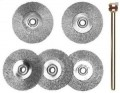 Stainless Steel wheel 22mm 5 pcs with arbor #28956