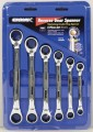 Reverse Double Ring Gear 6 piece spanner set Metric