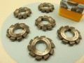 Involute HSS gear cutters - set of 6