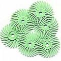 "Radial Bristle Discs, 1 Micron, 14,000 Grit, Lt. Green, 3/4"", 6-Pk"