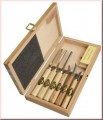 KIRSCHEN 7 pce WOOD CARVING SET - in Wooden Box (3437-HK 7 pce)