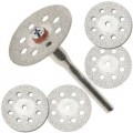 Diamond disc 22mm set 5pc + 1 Mandrel