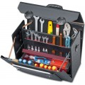 Top-Line leather tool case with middle wall king size