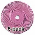 3M Radial Bristle Discs, Pumice, 1,200 Grit, Pink, 3 Inch